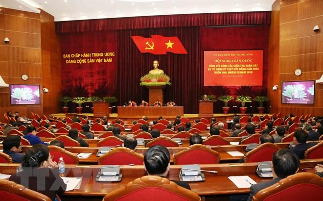 越南国会主席阮氏金银出席党内纪检监察工作总结会议