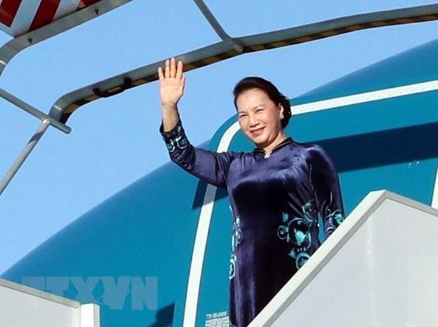 越南国会主席阮氏金银圆满结束对摩洛哥王国的访问并启程访法