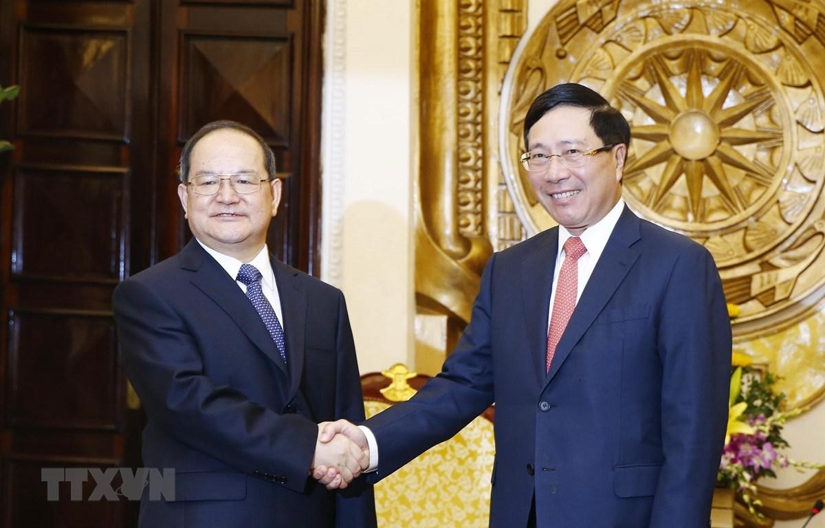 越南政府副总理范平明会见广西壮族自治区党委书记鹿心社