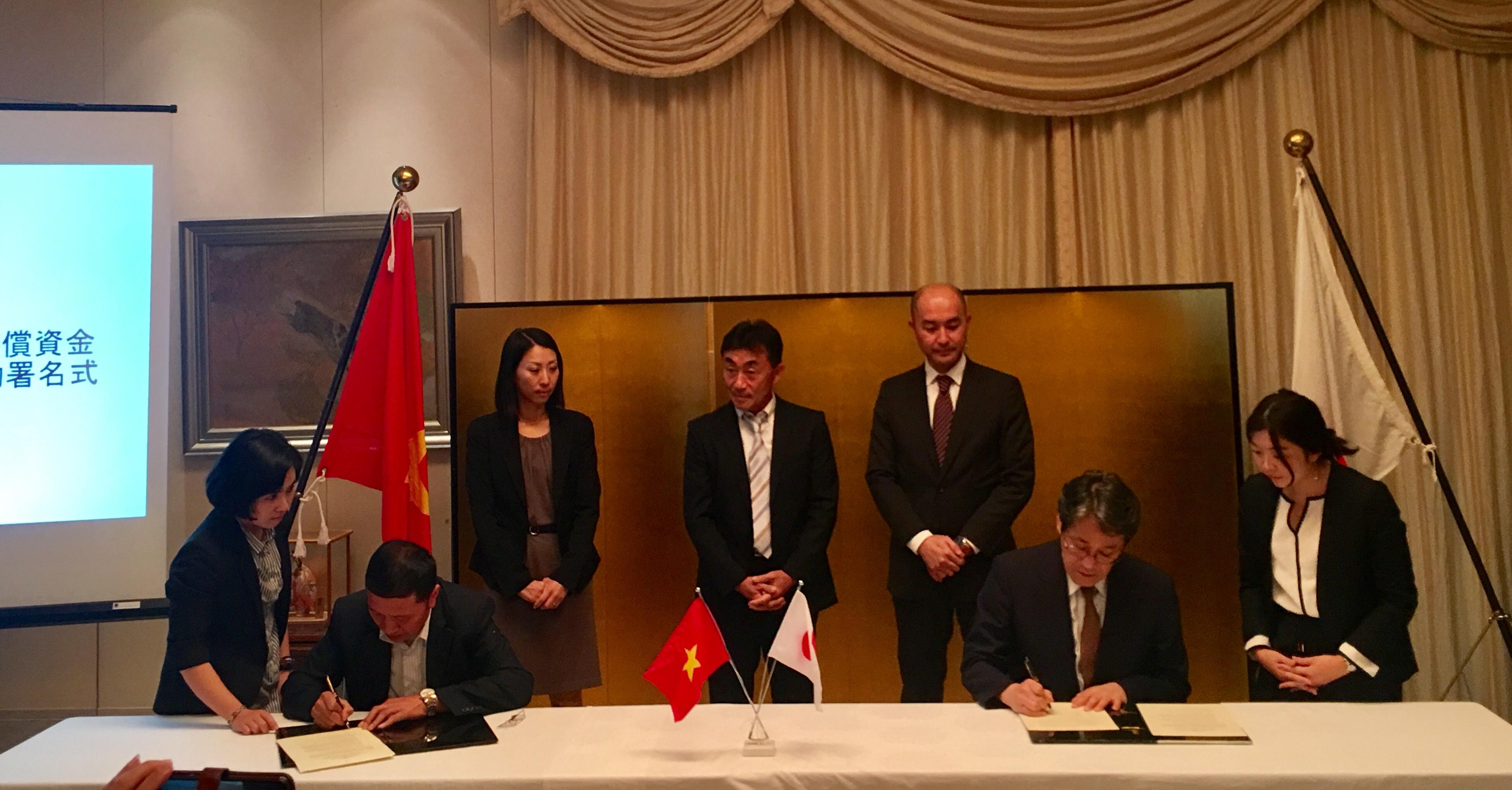 日本向越南八个项目提供无偿援助