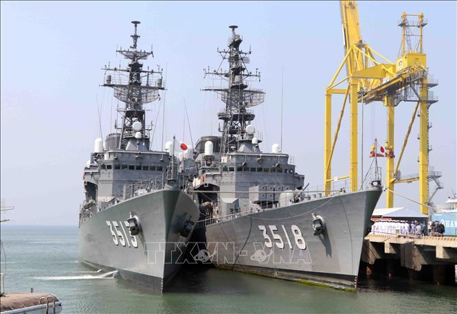 日本自卫队军舰访问岘港市