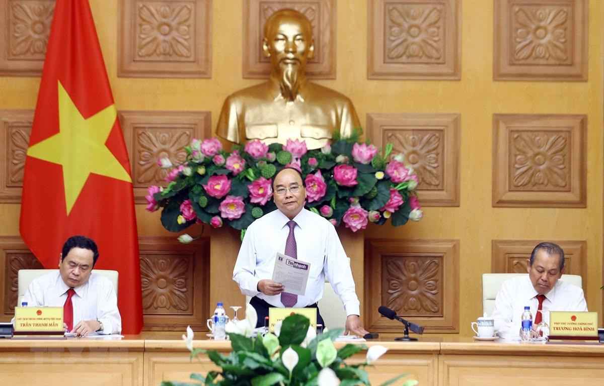 政府总理阮春福同越南祖国阵线中央委员会举行会议