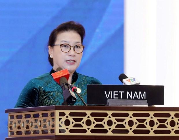 国会主席阮氏金银在各国议联第140届大会全体会议发表重要讲话