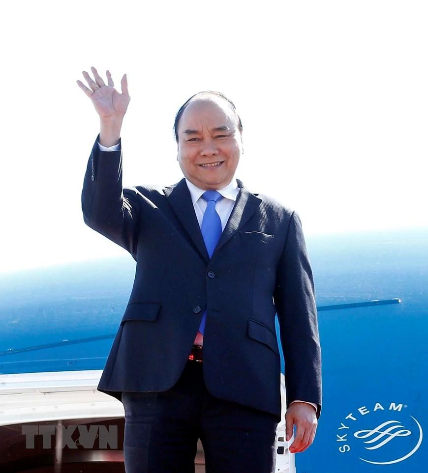 """越南政府总理阮春福抵达北京出席""""一带一路""""国际合作高峰论坛"""