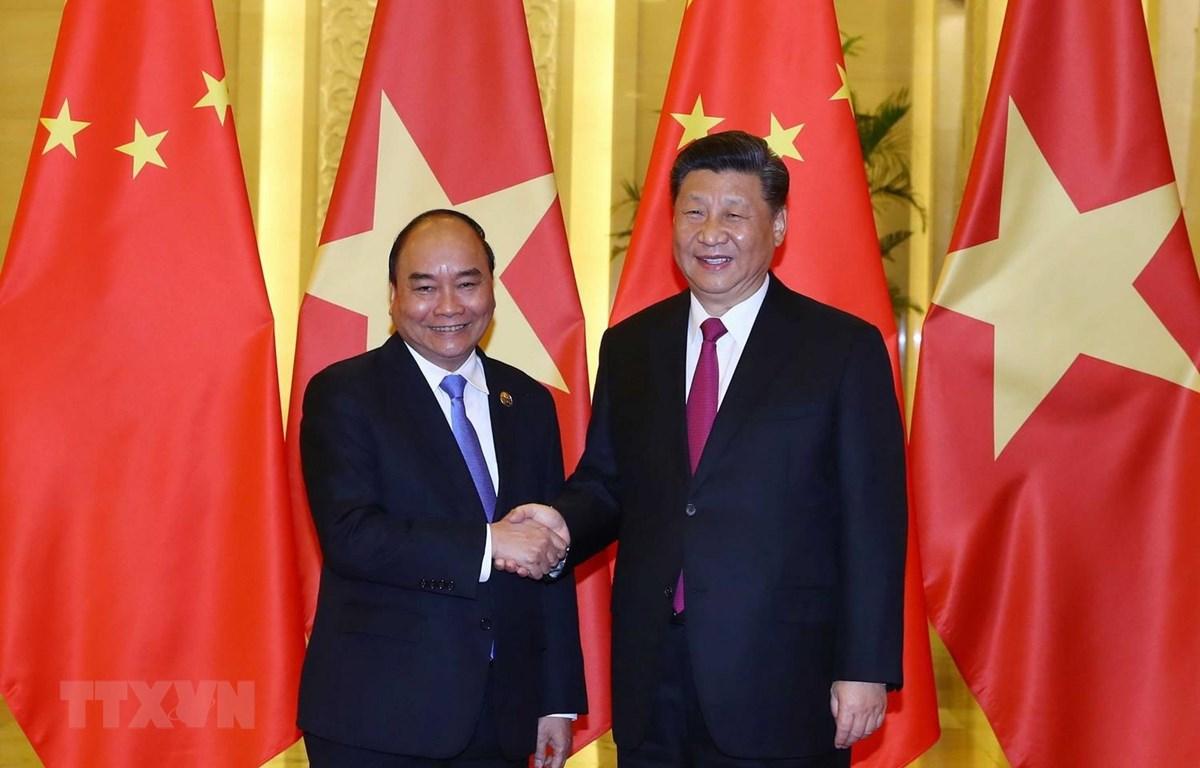阮春福总理会见中国国家主席习近平
