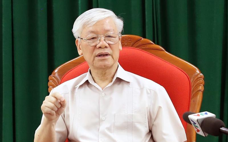 越共中央总书记、国家主席阮富仲主持骨干领导人会议