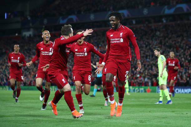 利物浦4-0巴萨 总分4-3逆转晋级欧冠决赛