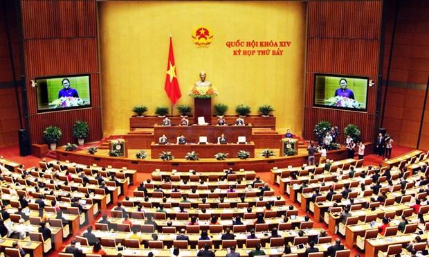 越南第十四届国会第七次会议第一号公报