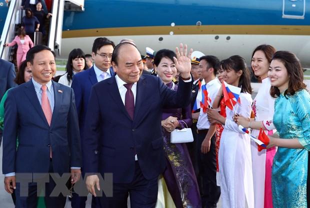 阮春福总理抵达圣彼得堡 开始对俄罗斯进行正式访问