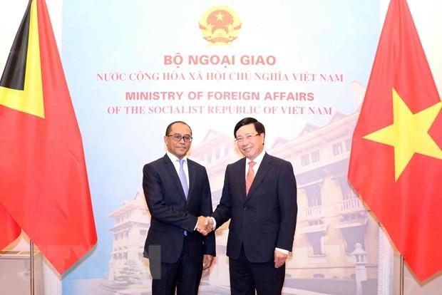 越南和东帝汶加强各领域合作