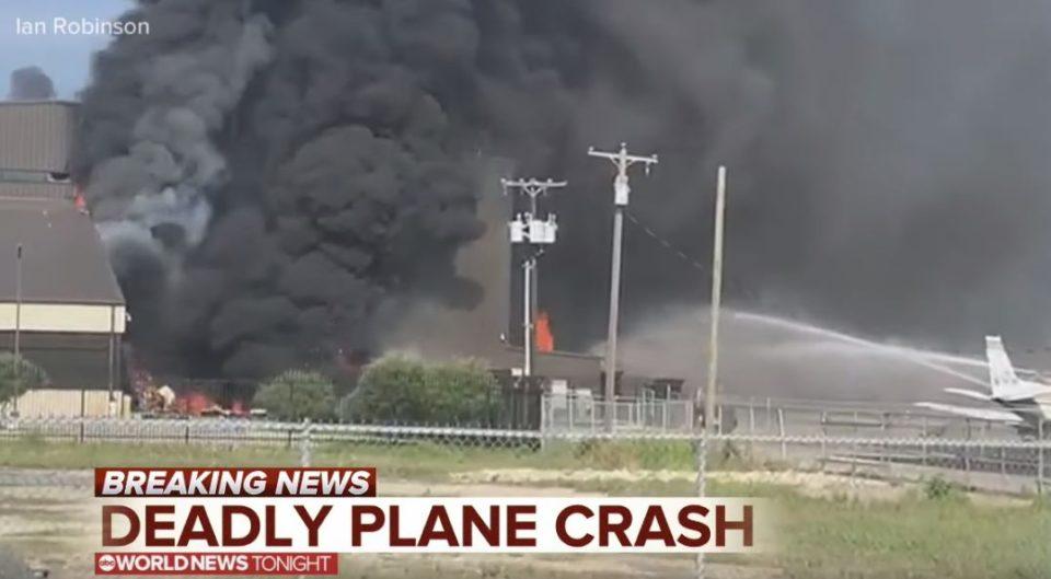 美国得克萨斯州一小飞机坠毁10人遇难