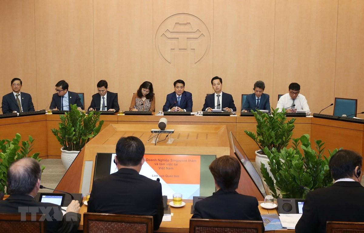 新加坡企业寻找与河内市的合作商机