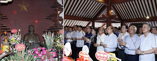 政府总理阮春福、国会主席阮氏金银上香缅怀胡志明主席