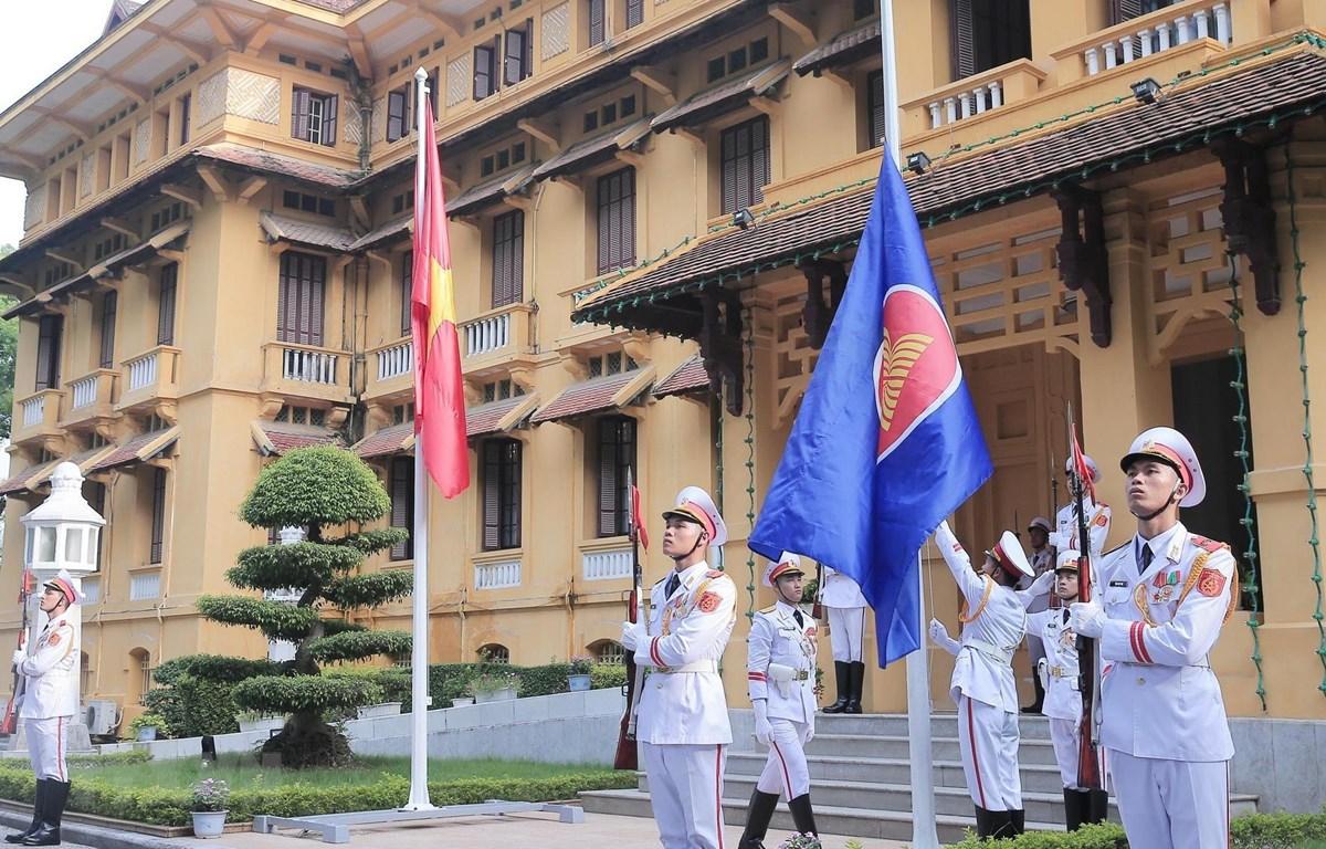 东盟旗升旗仪式在河内举行