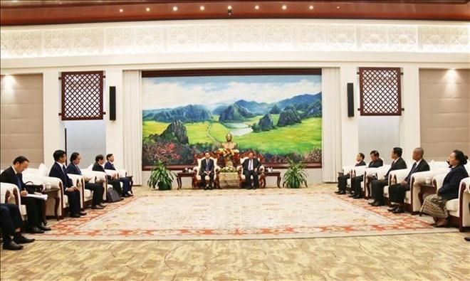越共中央办公厅代表团对老挝进行工作访问
