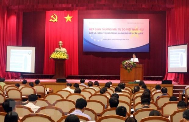《越南与欧盟自贸协定》内容宣传会议在广宁省举行