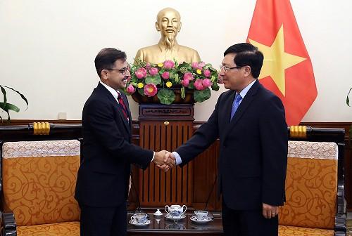 """范平明副总理:越南一向支持印度""""向东政策"""""""