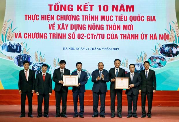 阮春福总理出席河内市新农村建设实施10年总结会议