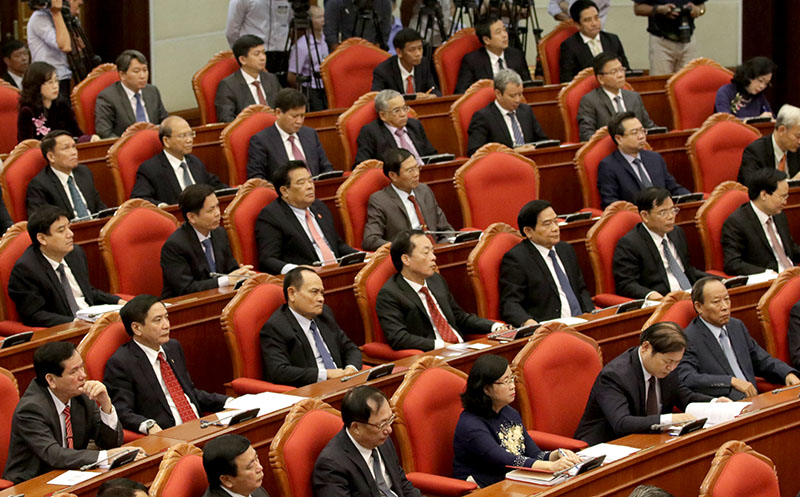 越共十二届中央委员会第十一次全体会议进入第三个工作日