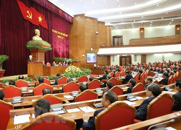 越共十二届中央委员会第十一次全体会议进入第四个工作日