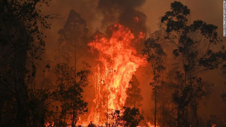 澳大利亚森林大火肆虐 东部两州进入紧急状态