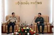 潘文江上将会见中国人民解放军国防大学政委吴杰明