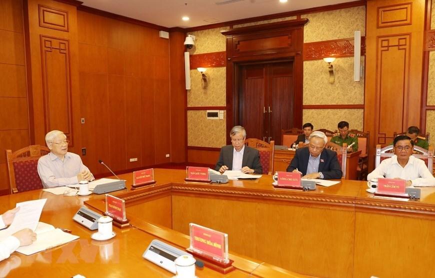越共中央总书记、国家主席阮富仲主持召开反腐败会议