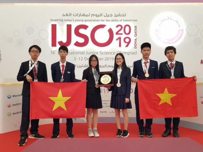 越南学生代表团在2019年IJSO竞赛中获三金三银