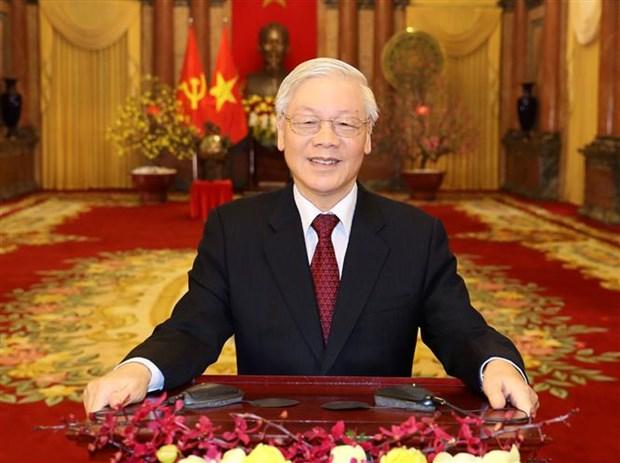 越共中央总书记、国家主席阮富仲发表2020年庚子新春贺词