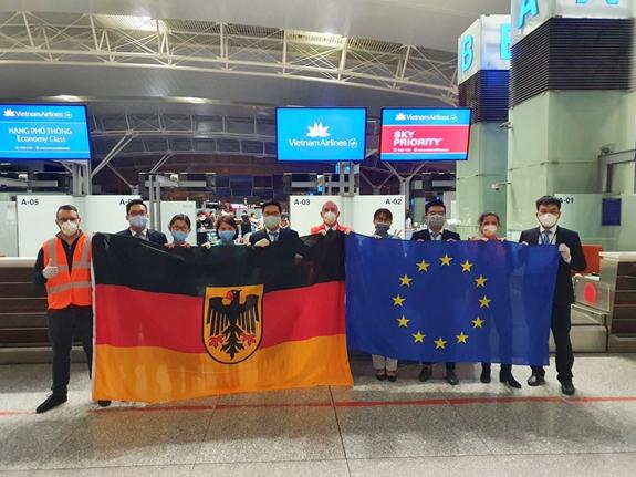 越南航空公司搭载德国与欧盟国家公民回国