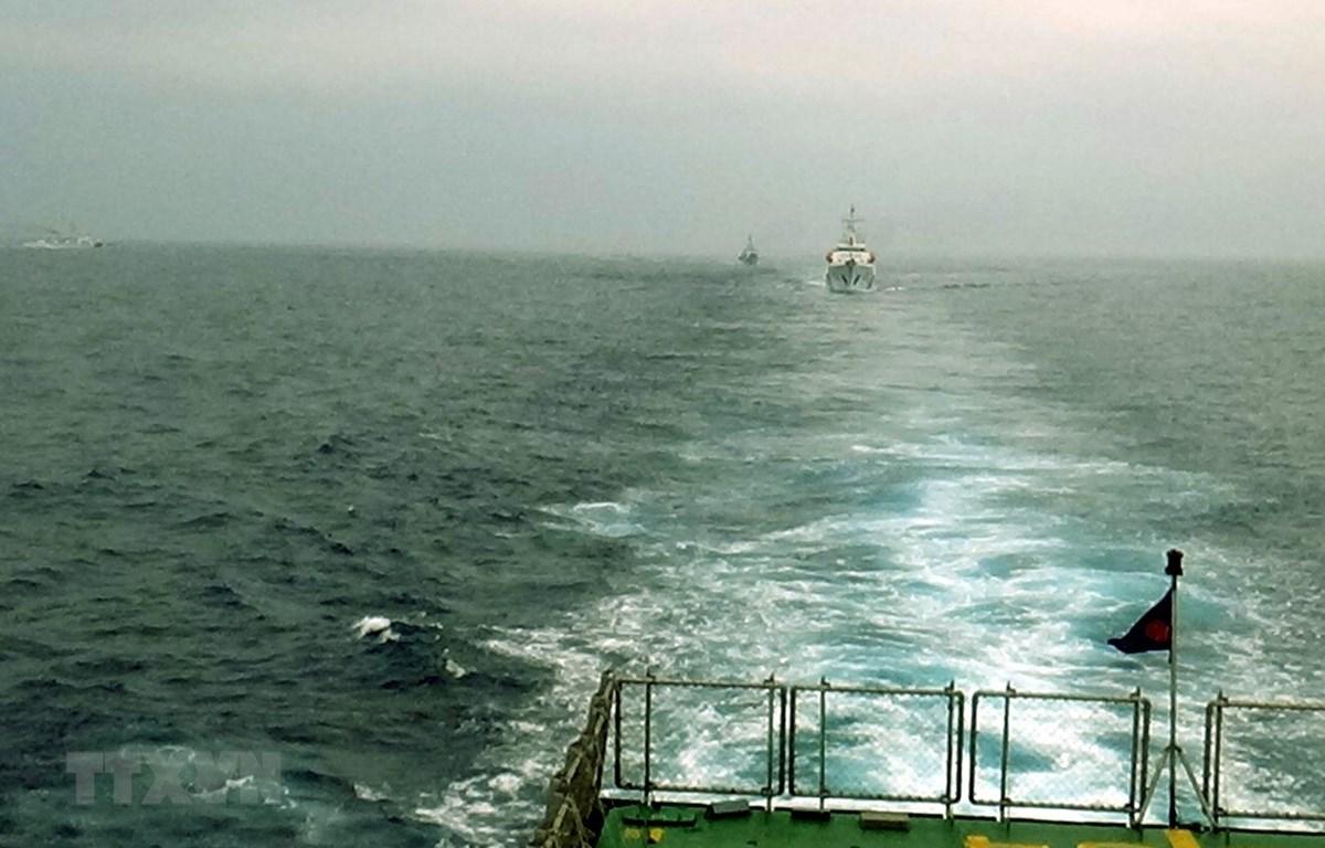 越中海警开展2020年首次北部湾共同渔区海上联合检查行动