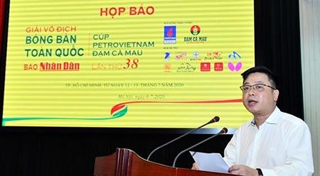 第38届《人民报》全国乒乓球锦标赛新闻发布会在河内举行