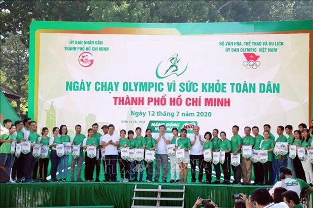 超过3万人参加胡志明市全民健康奥林匹克长跑日活动