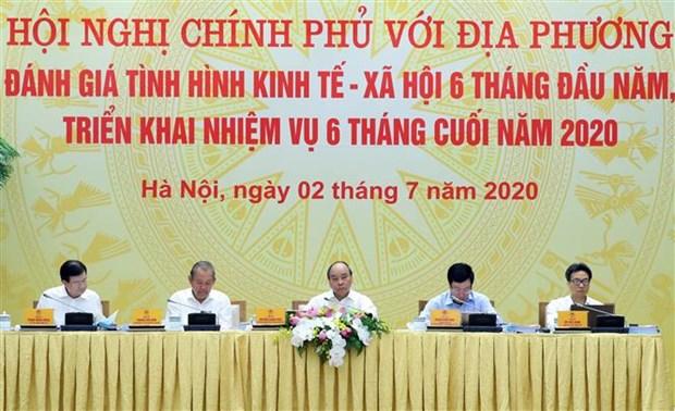 越南政府与各地全国视频会议在河内召开