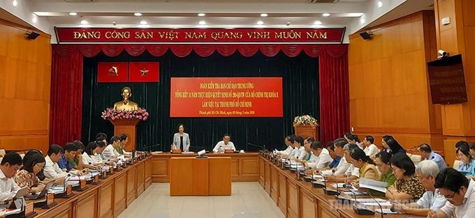 越共中央民运部部长张氏梅:胡志明市干部党员要继续做好民运工作