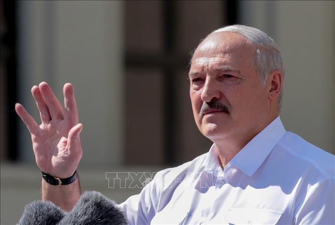 白俄罗斯总统卢卡申科宣誓就职