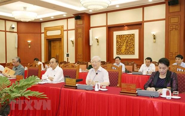 越共中央政治局完成与所有中央直属党组织的工作计划