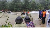 郑廷勇副总理指导紧急寻找在捞庄三号水电站地区山体滑坡的30名失踪人员