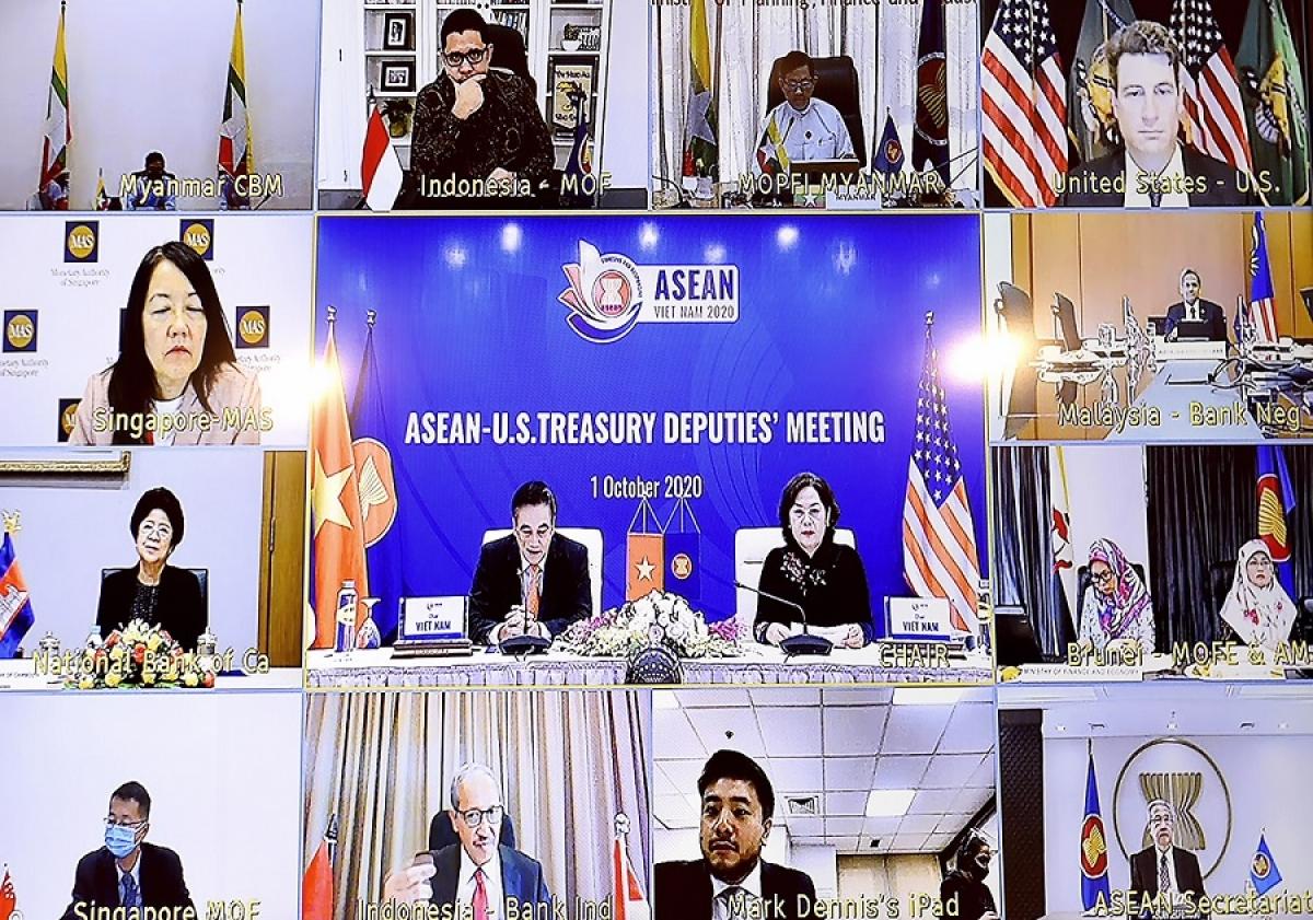 东盟与美国举行金融银行领域合作对话