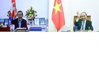 越南政府总理阮春福与柬埔寨首相洪森举行视频会谈