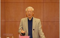 阮富仲同志:继续加强反腐工作