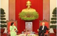 越共中央总书记、国家主席阮富仲会见古巴驻越南大使