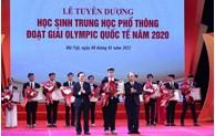 越南学生在奥林匹克竞赛上取得骄人成绩
