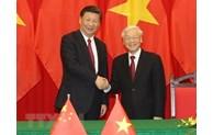 越中两国领导人互致贺电庆祝两国建交71周年