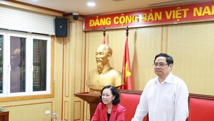 越共中央组织部部长职务交接仪式在河内举行