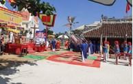 黄沙戍边军犒军仪式在李山岛举行