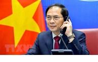 越南外交部部长裴青山与中国国务委员兼外交部部长王毅举行电话会谈