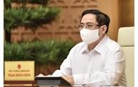 政府总理召开关于北江和北宁两省新冠肺炎疫情防控工作的紧急视频会议