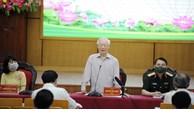越共中央总书记阮富仲会见河内选民