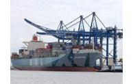 巴地头顿省盖梅布市深水港迎接中联航运的第一艘货船